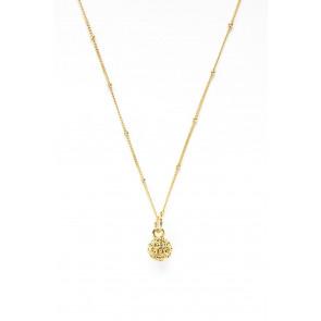Golf Goddess Golf Ball Charm Necklace - Gold